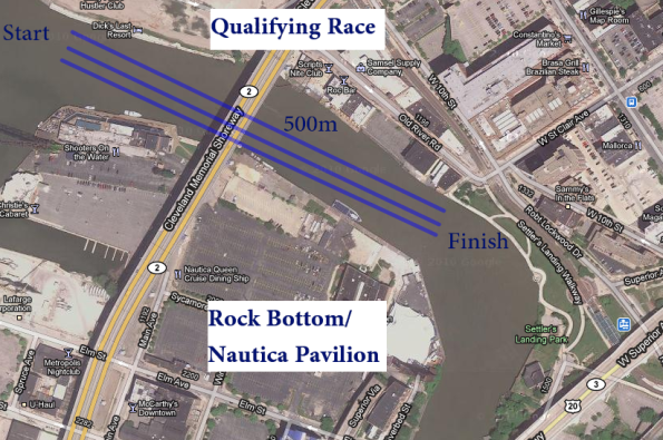 Qualifying Race Course - Top 2 boats to final race course