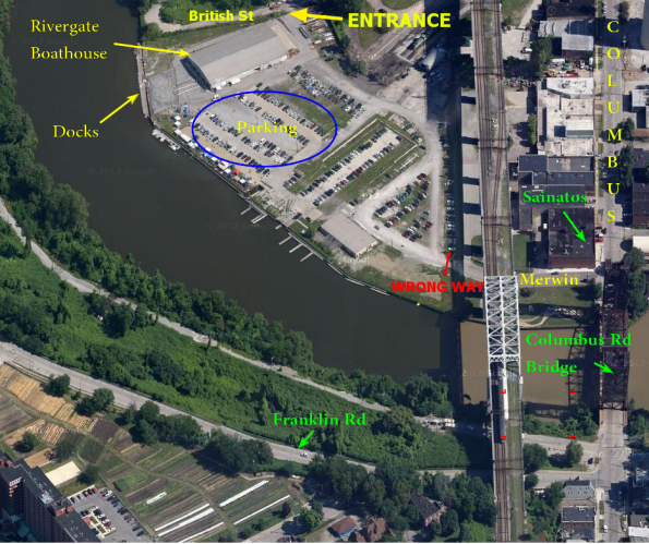 Cleveland Collegiate Regatta - Where to park - Rivergate Park Details